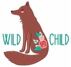 Wild Child Fox embroidery design