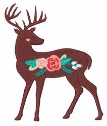 Flower Deer embroidery design
