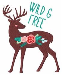 Wild & Free Deer embroidery design