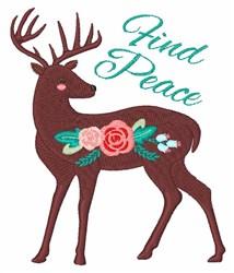 Find Peace Deer embroidery design