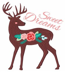 Sweet Dreams Deer embroidery design