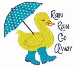 Rain Go Away Duck embroidery design