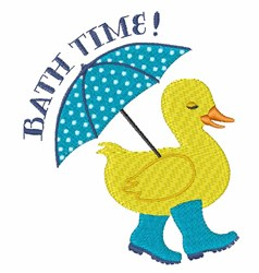 Bath Time Duck embroidery design