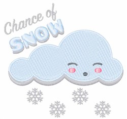 Chance Of Snow embroidery design