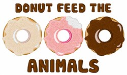 Donut Feed The Animals embroidery design