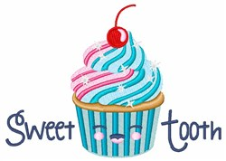 Sweet Tooth Cupcake embroidery design