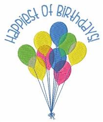 Happiest Of Birthdays embroidery design