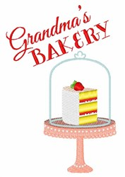 Grandmas Bakery embroidery design