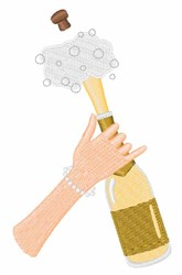 Champagne Pop embroidery design