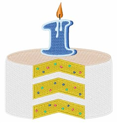 First Birthday Cake embroidery design