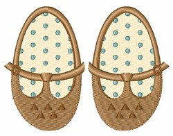 Baby Booties embroidery design