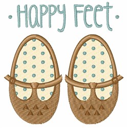 Happy Feet embroidery design