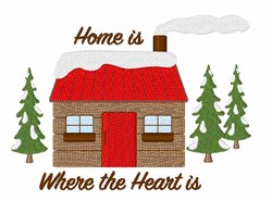 Log Cabin Home embroidery design