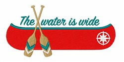 Wide Water Canoe embroidery design