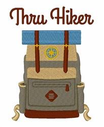 Thru Hiker embroidery design