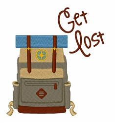 Get Lost embroidery design