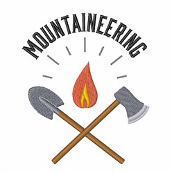 Mountaineering embroidery design