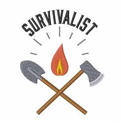 Survivalist embroidery design