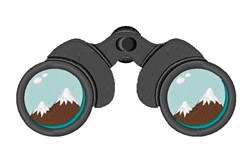 Mountain Binoculars embroidery design