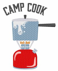 Camp Cook embroidery design