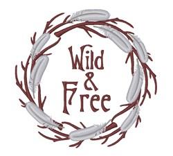 Wild & Free Wreath embroidery design