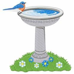 Bird Bath embroidery design