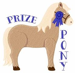 Prize Pony embroidery design