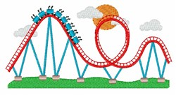 Roller Coaster embroidery design