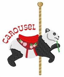 Panda Carousel embroidery design