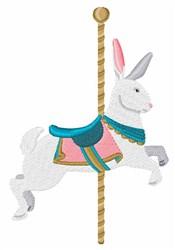 Carousel Rabbit embroidery design