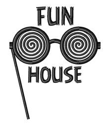 Fun House embroidery design