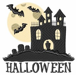 Halloween House embroidery design