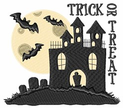 Trick Or Treat House embroidery design