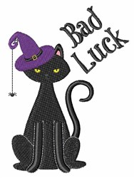 Bad Luck Cat embroidery design