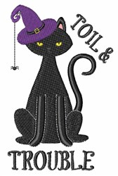 Toil & Trouble Cat embroidery design