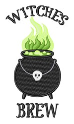 Witches Brew embroidery design
