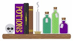 Potion Books embroidery design