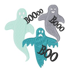 Ghosts Boo embroidery design