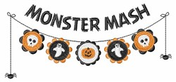 Monster Mash embroidery design
