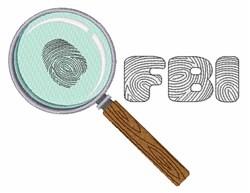 FBI embroidery design