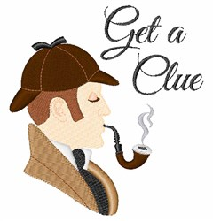Sherlock Holmes Clue embroidery design