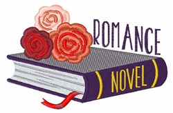 Romance Novel Book embroidery design