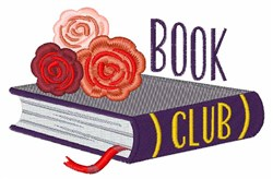 Book Club embroidery design