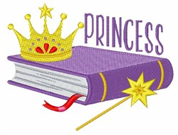 Princess Book embroidery design