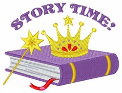 Story Time embroidery design