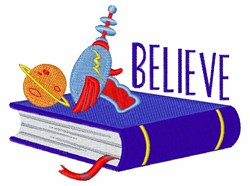 Believe Book embroidery design