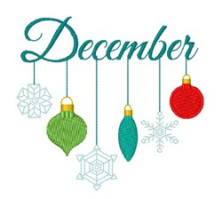 December Ornaments embroidery design
