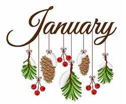 January Branches embroidery design
