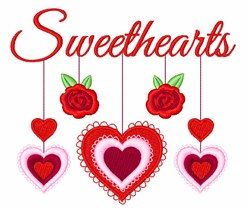 Sweethearts embroidery design
