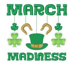 March Madness embroidery design